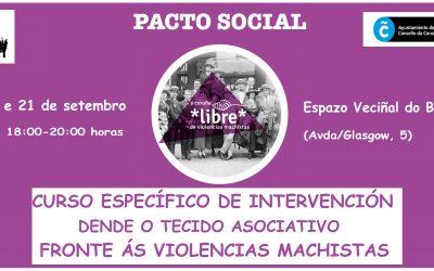 Curso Específico de Intervención dende o Tecido Asociativo fronte ás Violencias Machistas.